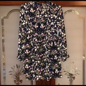 Hobo Style Adorable Floral Print Dress - Size XS